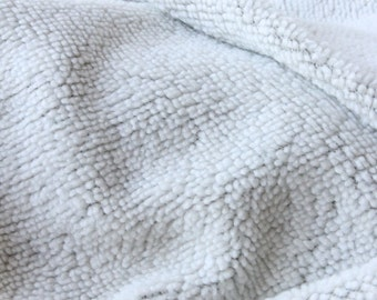 Faux shearling woven wool