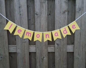 Lemonade Banner, Lemonade Birthday, Lemonade Stand, Lemonade Sign, Pink Lemonade, Lemonade