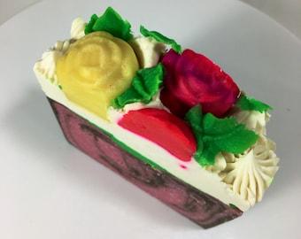Flower Bomb Vegan Artisan Soap Bar 5oz
