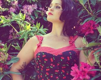 Cherry Dress - Retro dress / pinup / Rockabilly cherry motifs - all sizes