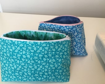 Colorful cosmetic bags