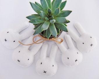 Bunny Garland, Rabbit Garland, felt garland, new born gift