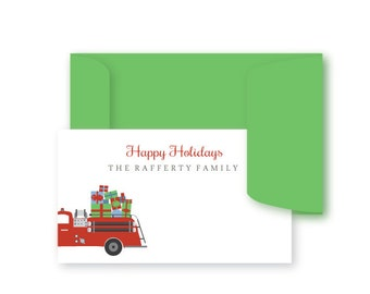 Christmas Holiday Enclosure Gift Cards, Gift Tags, Stickers, Christmas Gift Enclosure Cards, Monogrammed Stationery Note Card, Holiday Cards