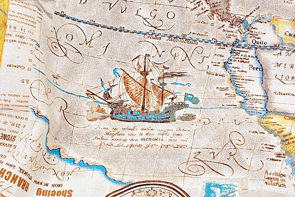 World map linen cotton fabric vintage voyage navigation sailing boat world map linen cotton fabric vintage voyage navigation sailing boat compass clock ocean collection 12 yard f014 from gideonstudio on etsy studio gumiabroncs Choice Image