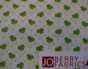Shamrocks from the Lucky Me by Shelly Comiskey for Henry Glass Fabrics.  Quilt or Craft Fabric, Fabric by the Yard