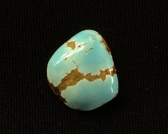 Number 8 Turquoise Mine Natural #8 Spiderweb Turquoise Cabochon 5.8 CT Free Shipping