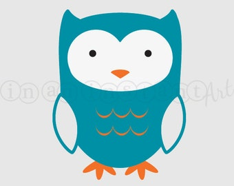 Forest Animal Vinyl Wall Decal, Owl Vinyl Wall Decal for a Woodland or Forest Friends Nursery, Kids, Childrens Room 531