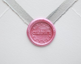 CELEBRATE Wax Seal | Wedding Wax Seal Stamp | Bridal Shower Invitation | Party Gift