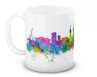 Belfast Skyline Northern Ireland Cityscape - High Quality Ceramic Coffee Mug