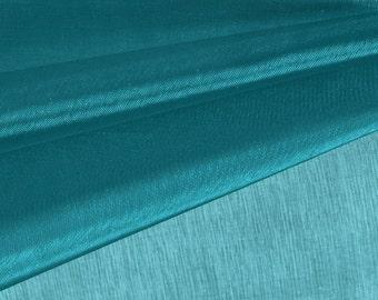 Dark Teal Organza Fabric by the Yard, Wedding Decoration Organza Fabric, Sheer Fabric - Style 1901