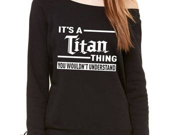 It's A Titan Thing Slouchy Off Shoulder Oversized Sweatshirt
