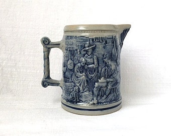 "Antique Whites of Utica Salt Glazed Stoneware 7"" Pitcher"