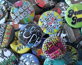 Any 4 badges - 38mm pin back buttons - Gift, Birthday, Christmas, Valentine!