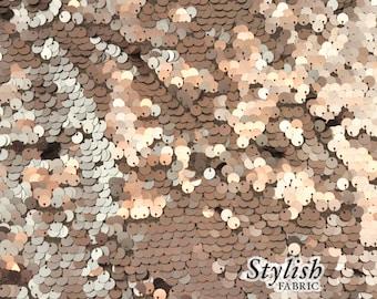 All-over Round Malt Sequins Fabric Malt Sequined Fabric Shiny Fabric by the yard Sequins - 1 Yard 2707