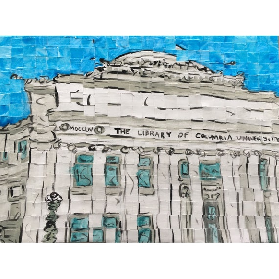 Columbia University - Low Memorial Library - Architectural Art - Original Painting 9x12""