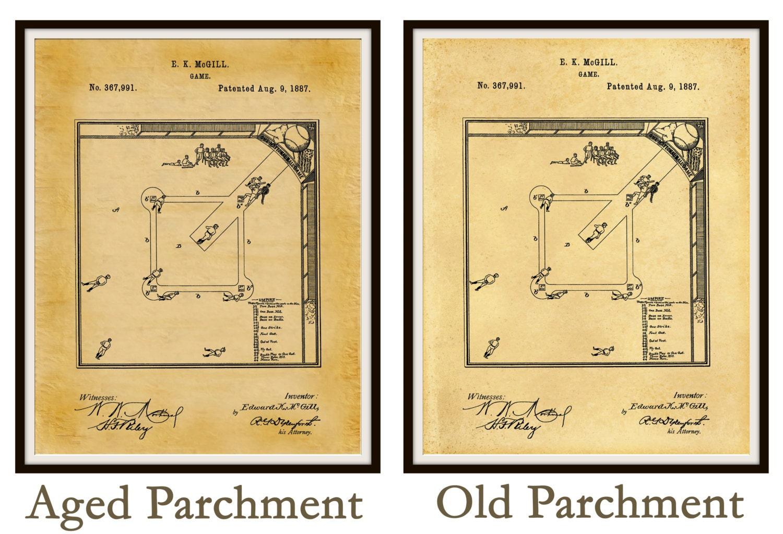 Patent 1887 Baseball Diamond - Art Print - Poster - Sports - Wall ...