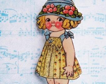 Dolly Dingle #7 Shrink Plastic Brooch Pin