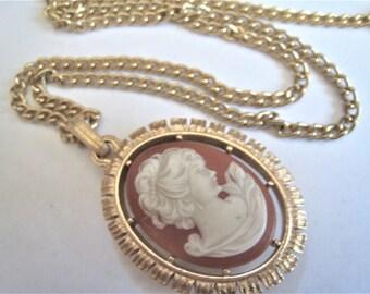 Vintage Avon Faux Cameo Necklace