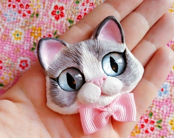 Mary Ragdoll cat - Fridge magnet
