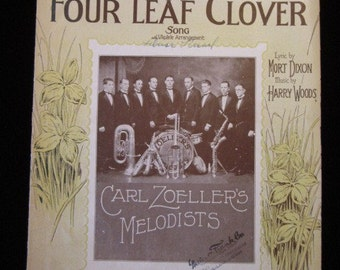 I'm Looking Over A Four Leaf Clover circa 1927 Sheet Music