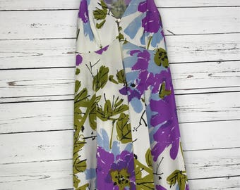 Ladies Vintage Vera For Formfit Rogers Floral Sleeveless Short Dress sz: SMALL
