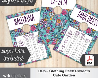 Dot Dot Smile Clothing Rack Dividers, Size Chart, Style Cards, Fashion Consultant, Cute Garden Design, Direct Sales, INSTANT DOWNLOAD