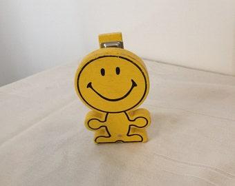 rare vintage happy face yellow stapler
