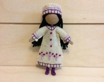 Emily - Miniature doll - Bendy doll - Faceless doll - Dollhouse doll - Pocket doll - Waldorf doll - Montessori toy