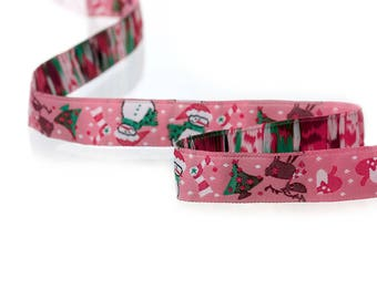 Snowman winter 16 mm - SC70575 theme - woven Ribbon
