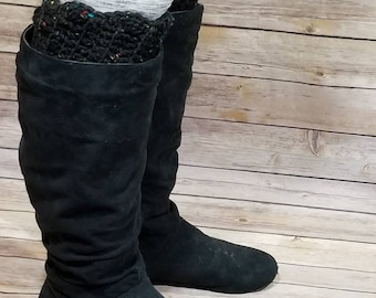 Scalloped boot cuffs, boot socks, lace boot cuffs, winter socks, gifts for her