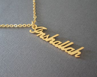 Personalized Vertical Name Necklace in 4 Colors - Custom Name Necklace - Name Stick Necklace - Custom Name Gifts