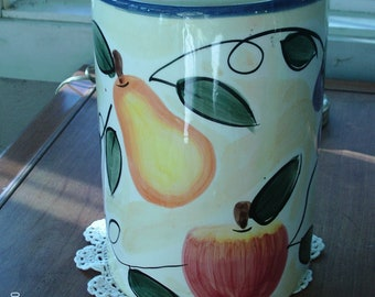 Vintage Glazed Ceramic Jar