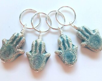 Snagless dangle stitch marker set of 4