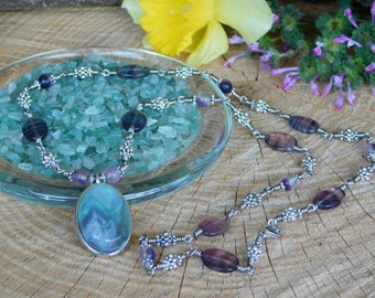 Flourite necklace