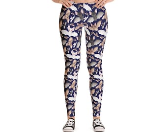 Batty For Bats! Leggings- Midnight Blue