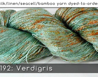 DtO 192: Verdigris on Silk/Linen/Seacell/Bamboo Yarn Custom Dyed-to-Order