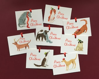 Merry Woofmas set of 8 gift tags
