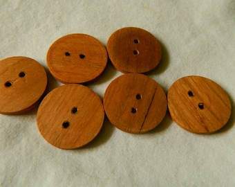 Cherry Wood Buttons!