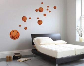 Basketball Decals, Reusabel Basketball Murals, Sports Wall Decals, Kidu0027s Room  Basketball Wall Mural, Bedroom Basketball Decor, Sports, S02