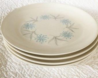 Laughlin Blue Star Salad Plates - Set 0f 4