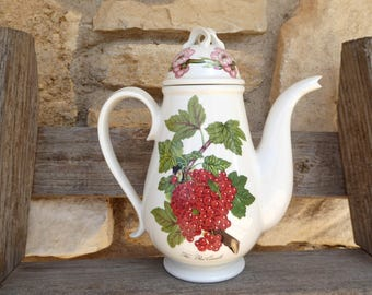 Vintage Portmeirion Pomona Coffee Pot Red Currant, Portmeirion Pomona Red Currant Coffee Pot (ØN)
