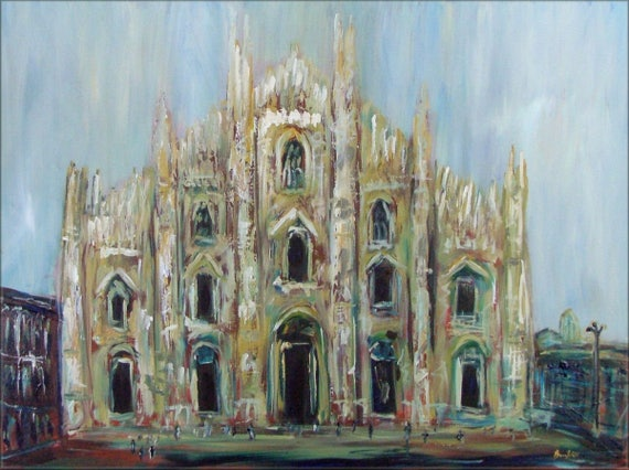 MILAN ITALY Cathedral - Fine Art Print from Original Oil Painting by BenWill
