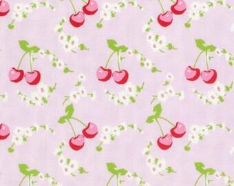 Cherries - Pink - Rambling Rose by Tanya Whelan from Free Spirit - Cherries Fabrics - Tanya Whelan Fabrics - Rambling Rose Fabrics