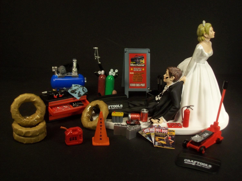 Funny Wedding Cake Topper for Mechanics AUTO MECHANIC Awesome