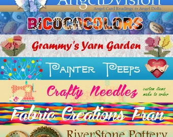 Get you own  personalized banner for your Etsy Shop
