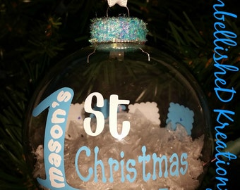 Personalized Baby's First Christmas Ornament/2016 Ornament/1st Christmas