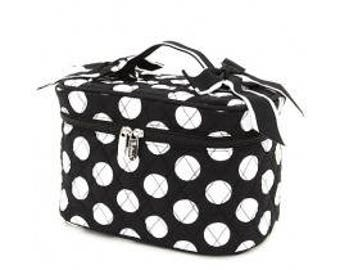 Personalized Black/White Polkadot Pattern Cosmetic Bag