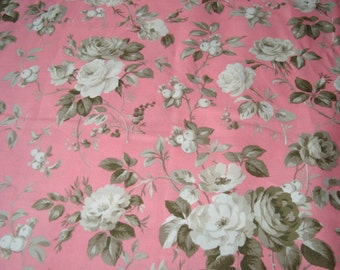Jardin Gris by Robyn Pandolph Crepe Suzette in Amaryllis one yard   YES!! Continuous fabric cuts and combined shipping