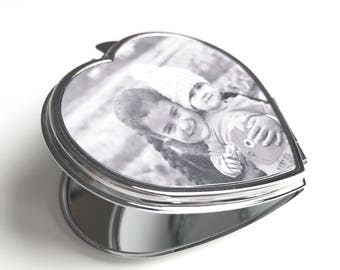 Personalised (Any Photo or Text) Handbag Mirror