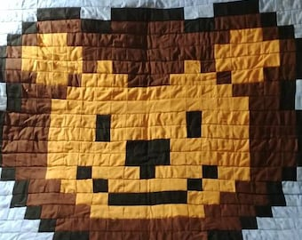 Beautiful Handmade Lion Baby quilt small
